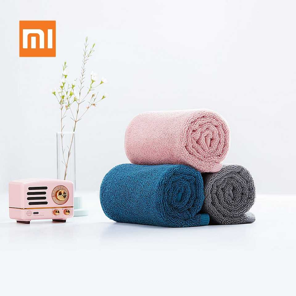 Original Xiaomi Youpin serviette 100% coton forte Absorption d'eau Sport bain laver doux serviettes Durable peau-amical Facecloth