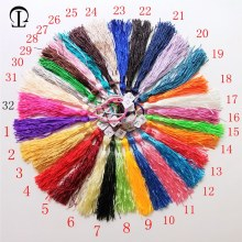 100pcs/lot 32 colors tassel silk fringe pompom trim decorative tassels for sewing curtains garments home decoration accessories