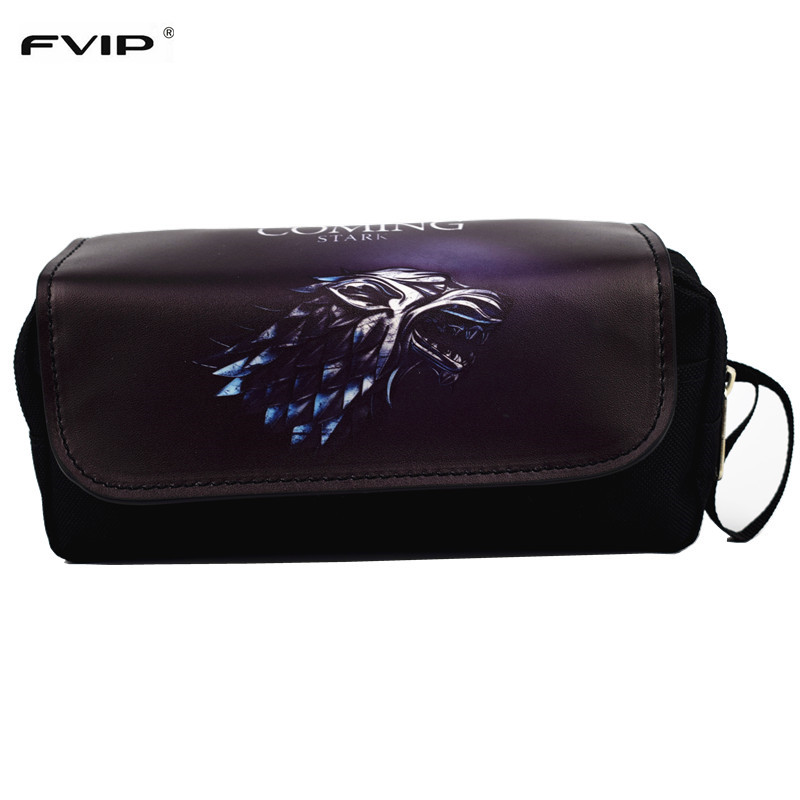 FVIP Hot Sell Cosmetic Cases Game Movie Pencil Case Game Of Thrones/OW/Zelda Make Up Bag