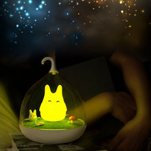 Cartoon Night Lamp Creative Pikachu Birdcage LED Light Touch Rechargeable Dimmable Table Portable Lovely for Kid