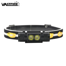 VastFire 6-Mode 650 LM XM-L2 LED Rechargeable USB Headlamp Mini Caving Riding Hunting Frontal Head Torch Flashlight