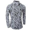 Camisa de los hombres de Lujo de la Marca 2017 Hombre Camisetas de Manga Larga Ocultar Camuflaje Ocasional Adelgazan Las Camisas de Vestir Para Hombre de Hawai 2XL MWKK