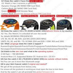Image 5 - Ban Đầu Toàn Cầu Rom Đồng Hồ Huawei Watch 2 Đồng Hồ Thông Minh Hỗ Trợ 4G/Bluetooth Theo Dõi Nhịp Tim Android IOS IP68 chống Thấm Nước NFC GPS