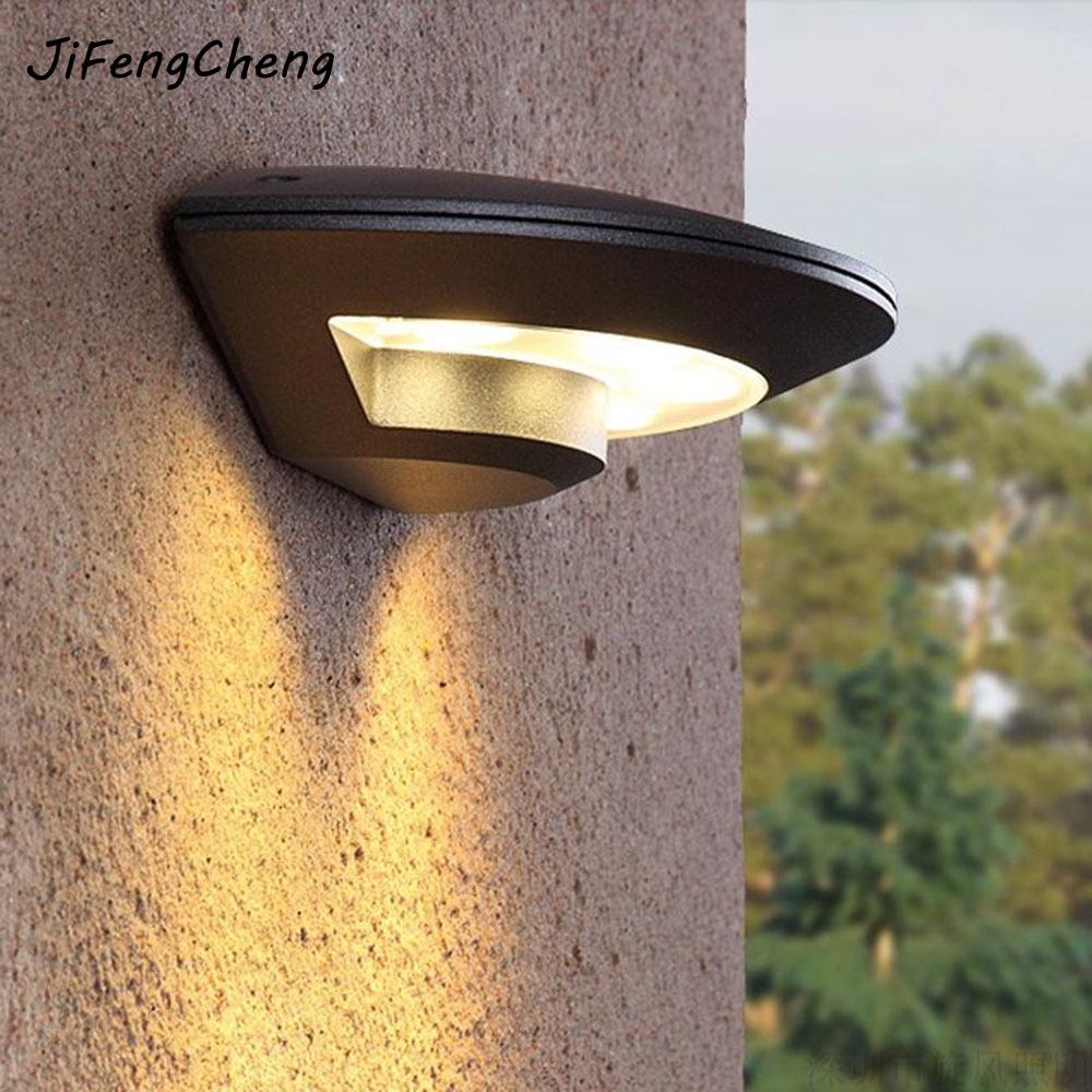 LED Outdoor Waterproof Wall Lamp Luminaria Garden Balcony Rust Outdoor Lighting Fixtures 4W Modern Simple Wall Outdoor Wall Lamp