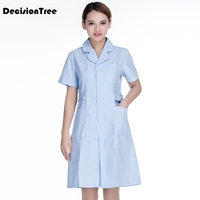 2020 medical clothing white long short sleeve tops medical coat dental lab doctor uniform womenpharmacies work clothes