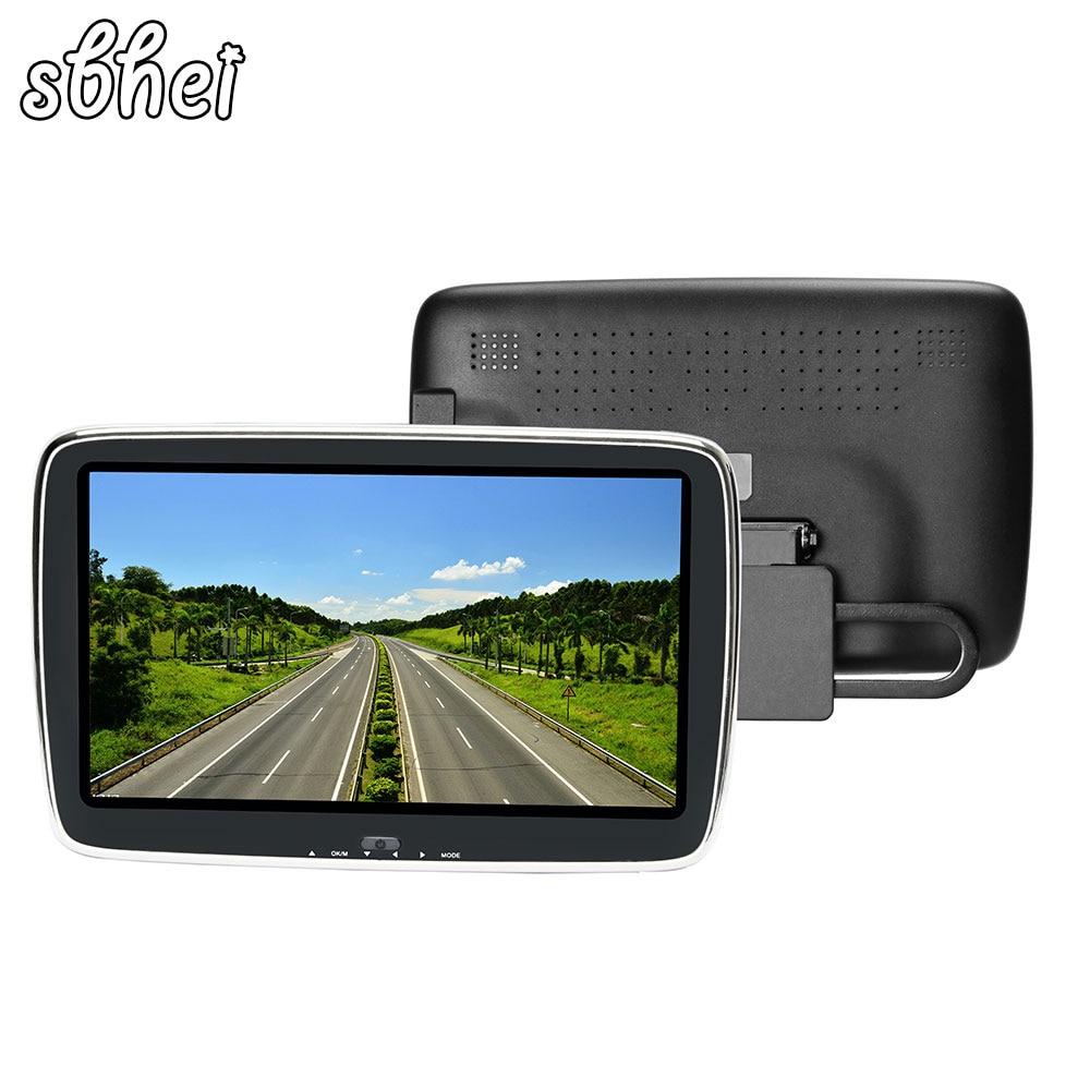 sbhei 9 Full HD Screen car external headrest monitor MP5 player support 1080P HD movies AV-IN Hi-Fi stereo music movie play buy external monitor