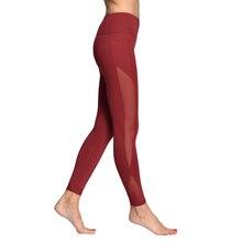 Sexy Women Yoga Sports Tights Nylon Pants Fitness Mesh Waist High Push Up Breathable Soft Strech Running Gym Slim Leggings