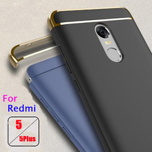 Case For Xiaomi Redmi 5 Cases Luxury Protective Back Cover 3 in 1 Hard PC Hybrid  Xiomi Plus 5Plus capa