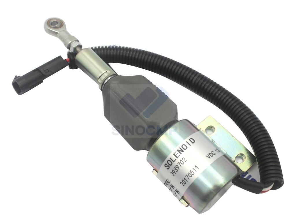 24V Diesel Engine Stop Solenoid 3939703 SA-4892-24 for Excavator, 3 month warranty24V Diesel Engine Stop Solenoid 3939703 SA-4892-24 for Excavator, 3 month warranty