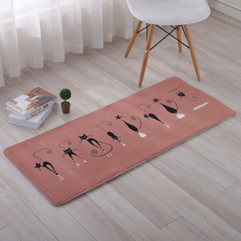 Moderne Funny Cartoon Schwarz Katzen Teppich Teppich Für Schlafzimmer  Wohnzimmer Flur Teppiche Küche Tür Matte Anti-Schlupf Startseite dekor  Tapete