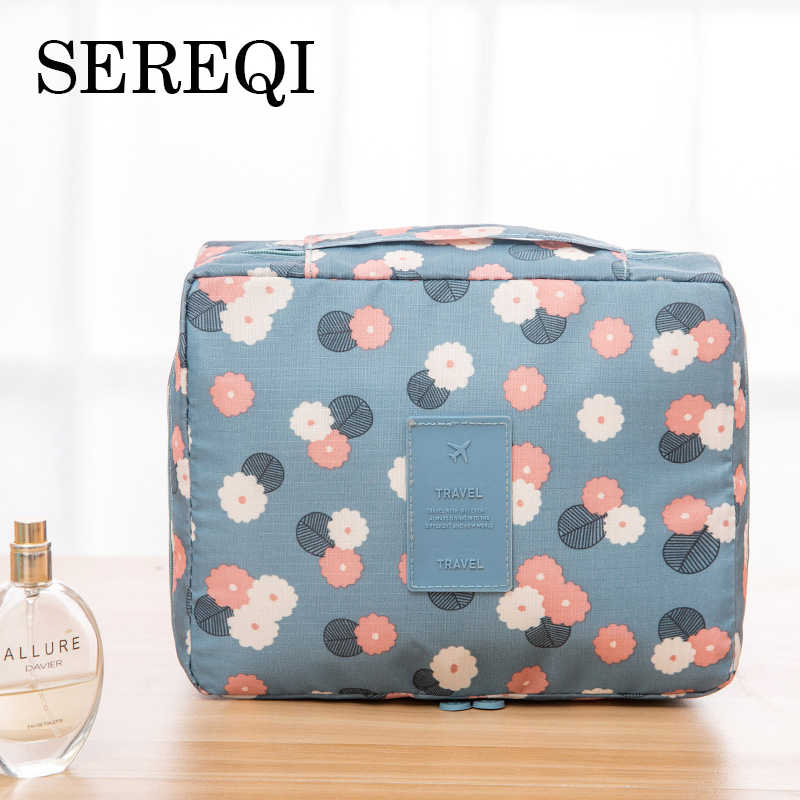 SEREQI Man Women Makeup Bag Waterproof Cosmetic Bag Beauty Case Make Up Organizer Toiletry Bag Kits Storage Travel Wash Pouch