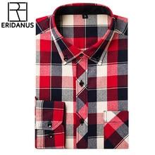 320018b331 ERIDANUS 2018 Novos Homens Camisas Xadrez de Manga Longa Outono de Luxo de  Alta Qualidade De Algodão Fino Moda Mens Camisas de V..
