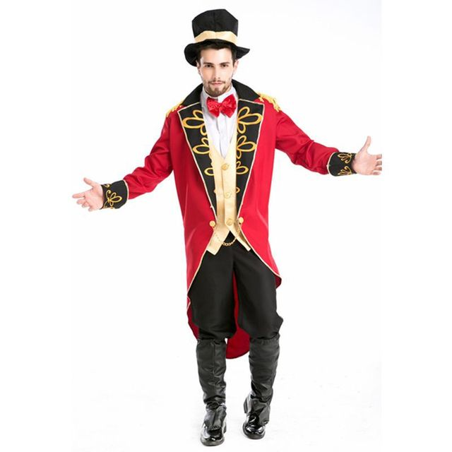 Magician costume men gothic victorian dress halloween costume for ...