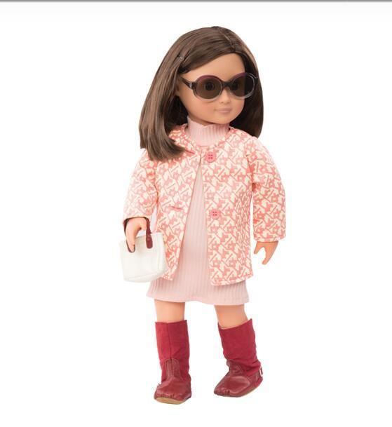 """Rosy Picture 18"""" American girl doll clothes and Dress  AG824"""