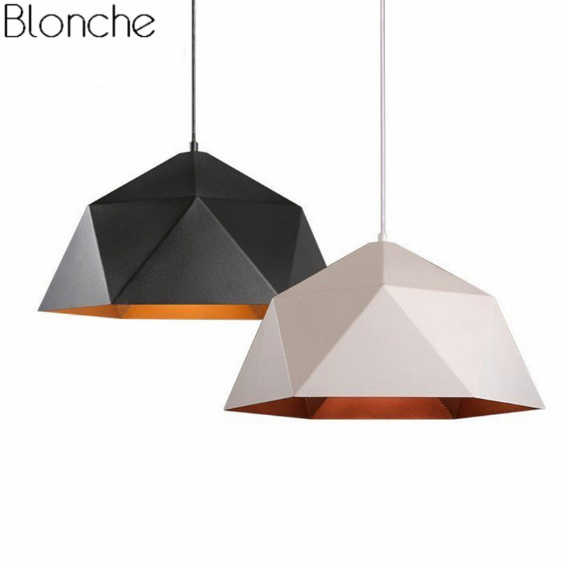 Modern Loft Pendant Lights Industrial Decor Hanging Lamp For Kitchen Living Room Led Pendant Lamp Black Iron Home Lighting E27