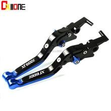 WITH XT600E LOGO CNC Adjustable Extendable Brake Clutch Lever For Yamaha XT600 E XT 600E 1990-2003 2002 Motorcycle Accessories