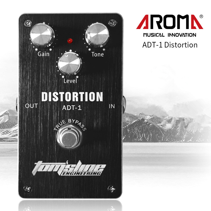 Aroma ADT-1 Distortion Electric Guitar Pedal Aluminum Alloy Housing Guitar Effect Pedal True Bypass High Quality Guitar Parts aroma adl 1 aluminum alloy housing true bypass delay electric guitar effect pedal for guitarists hot guitar accessories