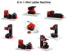 Бесплатная доставка 8 в 1 Мини Токарный Станок Для Мягкого Металла или Обработка древесины Комбинированная Машина Инструмент Z8001 8 в 1 нормальный тип токарный станок