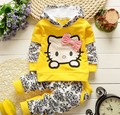 2016 new Baby Girls clothing sets Children hoodies winter autumn clothes set kids sport tracksuit toddler outwear+Pants 2 piece