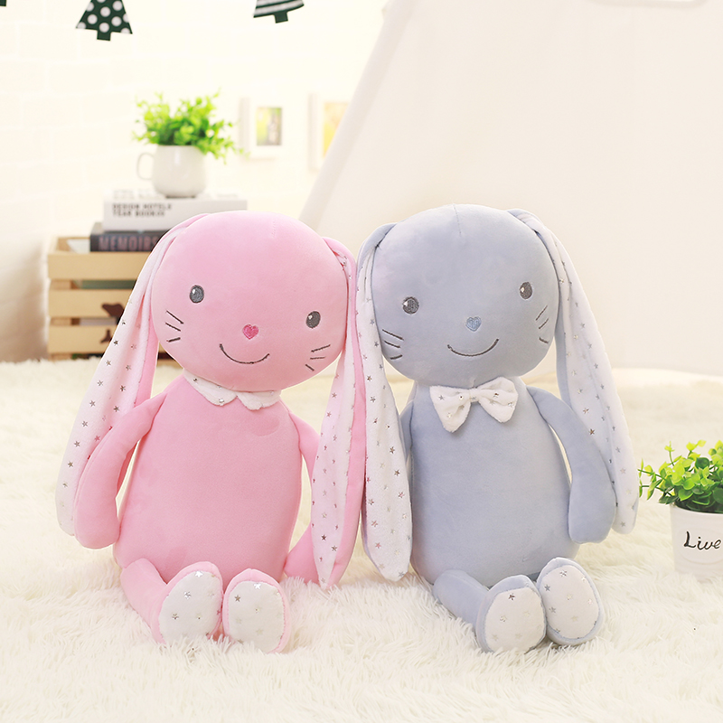 1pc 55cm Stuffed Animal Plush Rabbit Popular Plush Toy Sleeping Back Cushion Cute Stuffed Rabbit Girl Accompany Doll Xmas Gift rabbit plush keychain cute simulation rabbit animal fur doll plush toy kids birthday gift doll keychain bag decorations stuffed