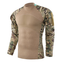Top Quality Men's Summer Military Uniform Tactical Camouflage Long Sleeve Shirt Mens Outdoor Work Clothes Combat Suit