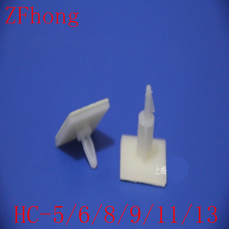 HC-5/6/8/9/11/13 Nylon Plastic (3M GLUE)stick on PCB Spacer Standoff 3mm Hole support Locking Snap-In Posts fixed clips AdhesiveHC-5/6/8/9/11/13 Nylon Plastic (3M GLUE)stick on PCB Spacer Standoff 3mm Hole support Locking Snap-In Posts fixed clips Adhesive