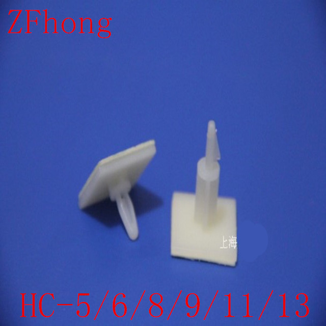 HC-5/6/8/9/11/13 Nylon Plastic (3M GLUE)stick on PCB Spacer Standoff 3mm Hole support Locking Snap-In Posts fixed clips Adhesive