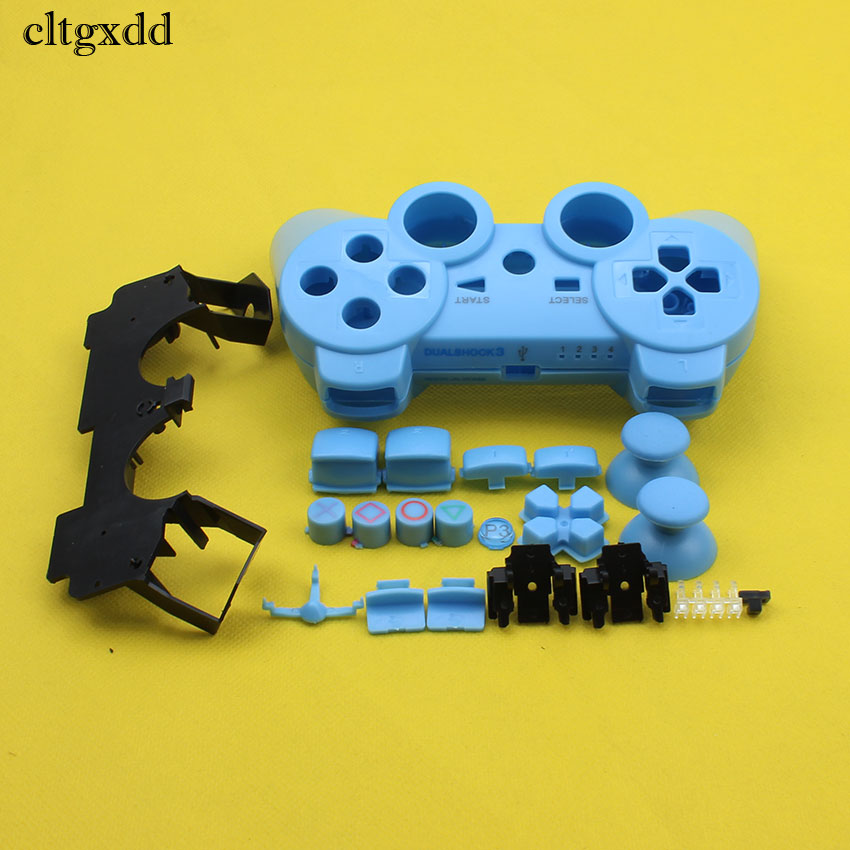Cltgxdd For Playstion 3 Wireless Controller Housing Shell Cover Case And Buttons Inner Stand For Sony PS3 Controller Shell