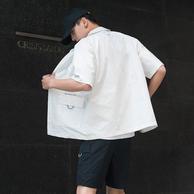 Men's Shirt Summer Short Sleeve Shirt Solid Color Comfortable Men's Tops Fashion Clothes 2