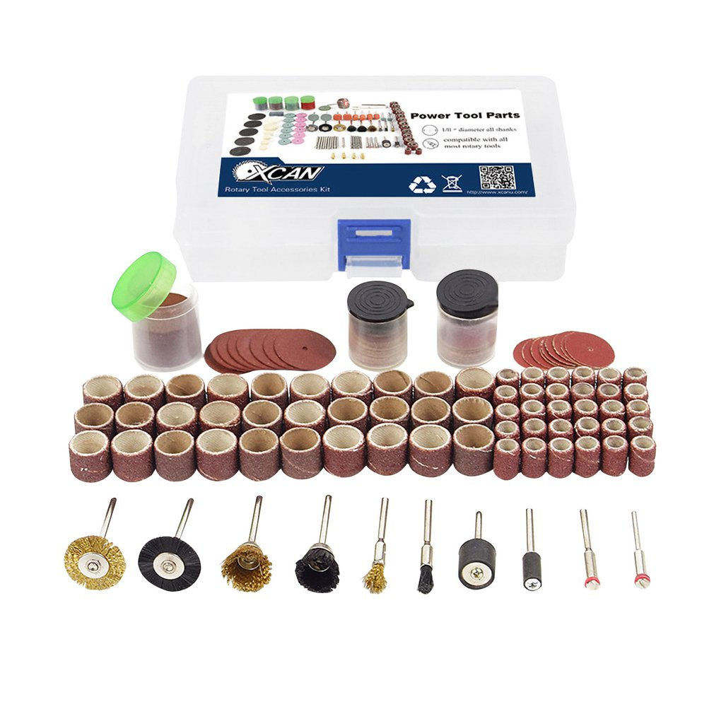 150pcs Rotary Power Tool Cutting Disc Mandrels Sanding Drum Drill Grinder Polishing Kit Multifunction Wood Work Repairing Tool