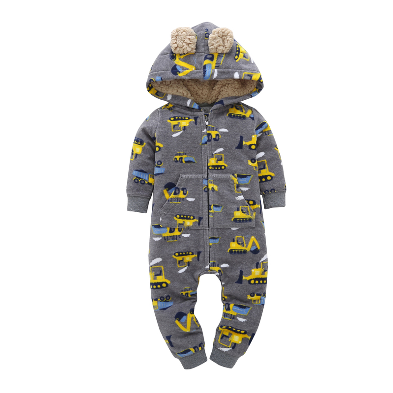 Newborn boy girl hooded   rompers   baby clothes unisex new born costume   romper   toddler clothing new born Fleece jumpsuit Babies
