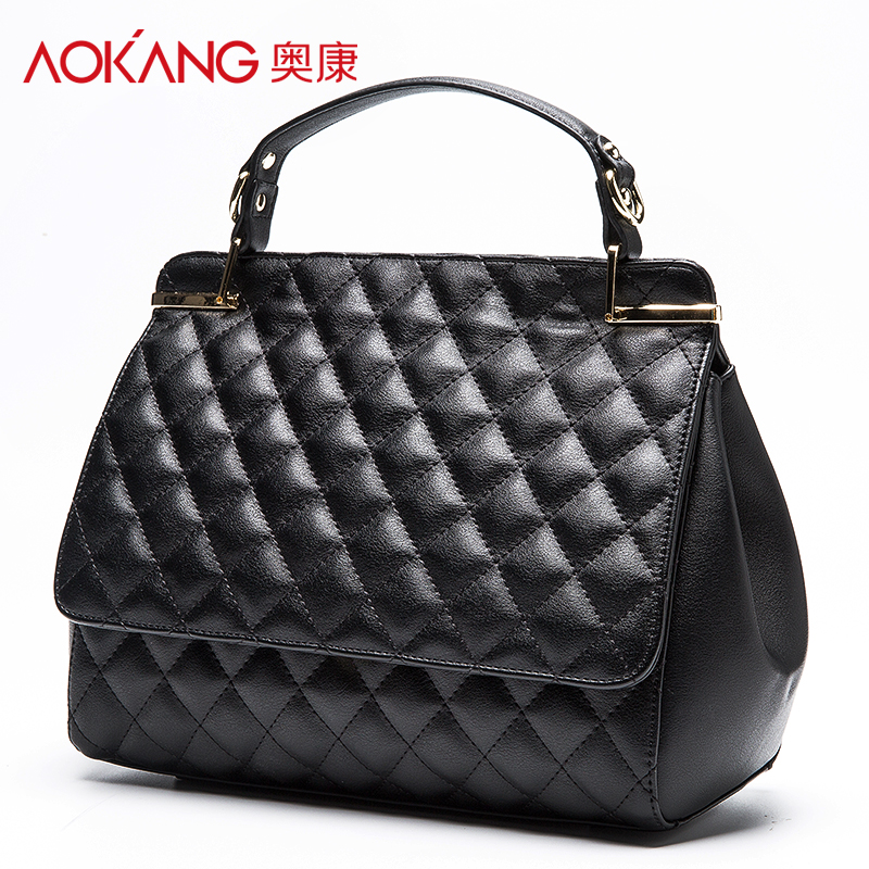 ФОТО AOKANG New Original Fashion colorful Top High Quality Luxury Lock Designer Handbags Famous Brand Women totes Bag