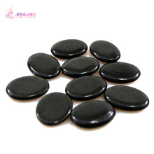 HIMABM 4*3*0.8cm 10PCS/ Pack Natrual Hot Spa Black Basalt Stone Massage Essential Oil Volcanic Energy Lava SPA