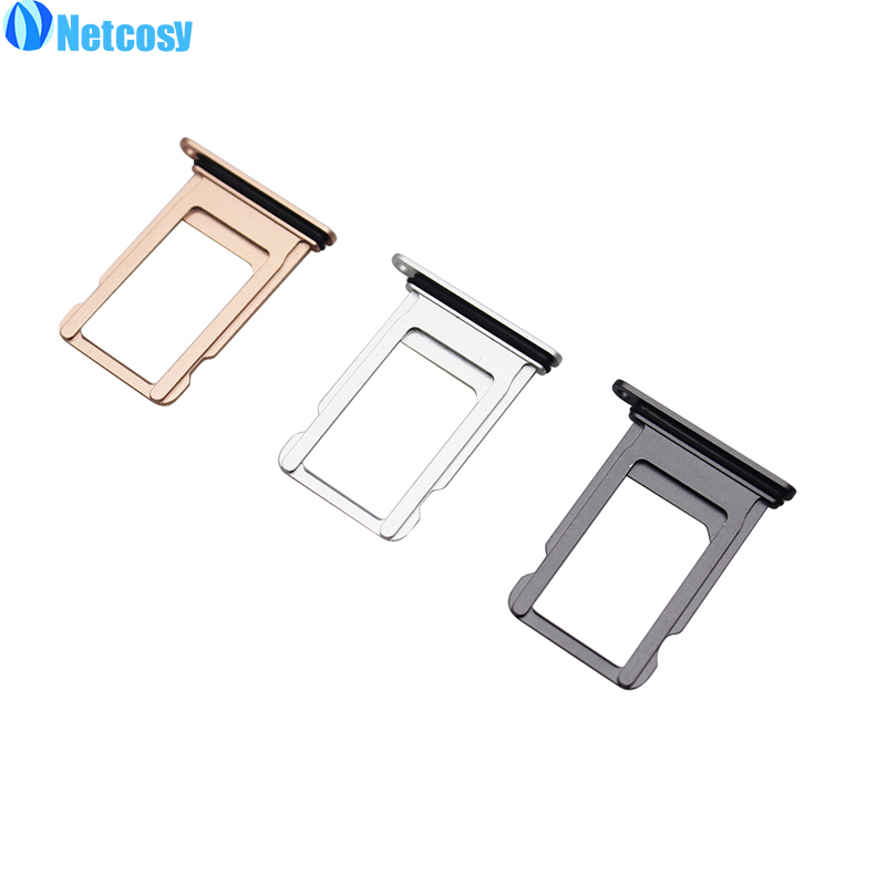 Netcosy For iPhone 8 SIM Card Tray Slot Holder Adapter Replacement Parts Repair Spare Part Quality Cheap Phones Accessories