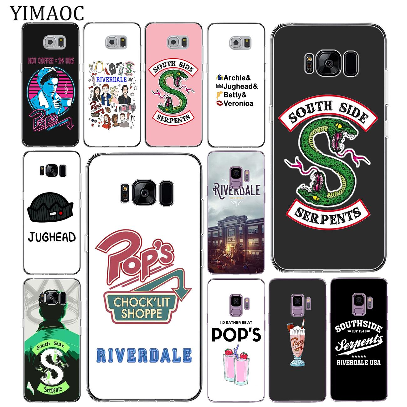 YIMAOC <font><b>Riverdale</b></font> South Side Serpents Weiche Tpu Silikon Telefon Fall für <font><b>Samsung</b></font> <font><b>Galaxy</b></font> S10 S9 <font><b>S8</b></font> Hinweis 10 Plus S7 rand S10e Abdeckung image