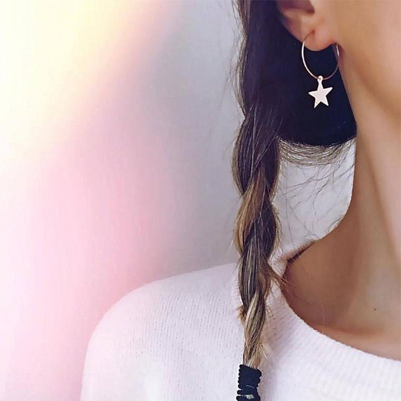 2018-Simple-Gold-Color-Star-Stud-Earrings-for-Women-Earrings-brincos-Oorbellen-boucle-d-oreille-pendientes
