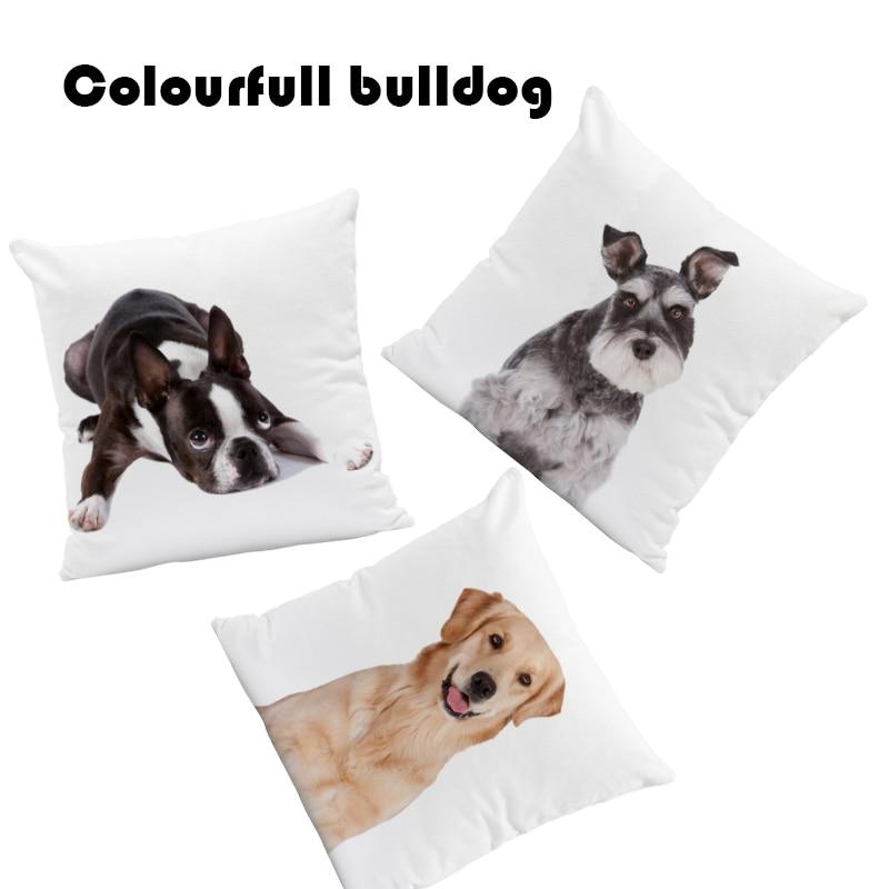 Greyhound Cushions Cover Pug Golden Retriever Pillows Vintage Farmhouse Gift For Couples Throw Pillow Cushion Large Velvet 2018