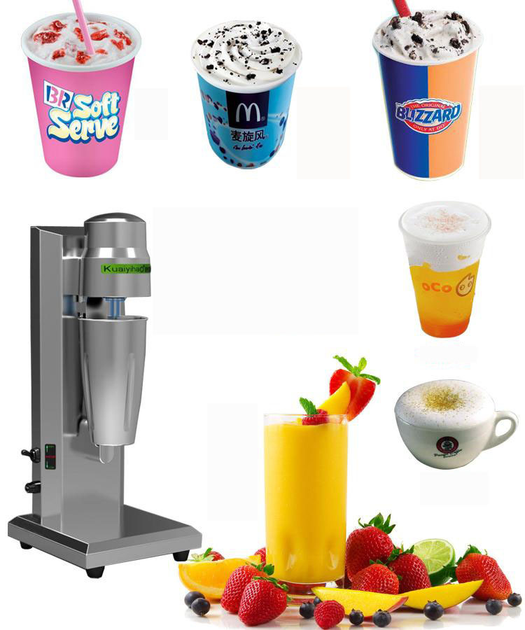Commercial milk tea mixer single head milkshake machine Drink Mixer Blender milk shaker Milk bubble mixing machine edtid new high quality small commercial ice machine household ice machine tea milk shop