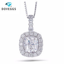 DovEggs Customize link for 2 pendant 10k White Gold 1.64CTW 6*7mm GH Color Cushion Cut Moissanite Halo Pendant(China)