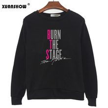 XUANSHOW Moletom 2018 Korean Kpop Unserxi Clothes Sweatshirts BURN THE STAGE THE MOVIE Print Casual Ladies Pullover Tops 5XL(China)