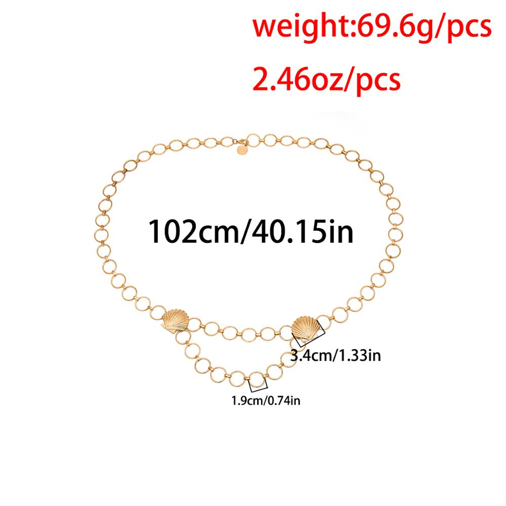 Ingemark Vintage Big Full Circle Waist Chain Dresses Jeans Decoration Bohemian Big Shell Beach Belly Belt Body Jewelry for Women in Body Jewelry from Jewelry Accessories