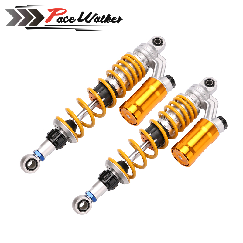 1XPair 350mm/12.5'' Motorcycle modified Adjust damping Nitrogen Shock Absorbers Rear Suspension For Scooter BWS all keoghs motorcycle front shock absorbers front fork tube suspension 26mm 27mm for yamaha scooter jog rsz force