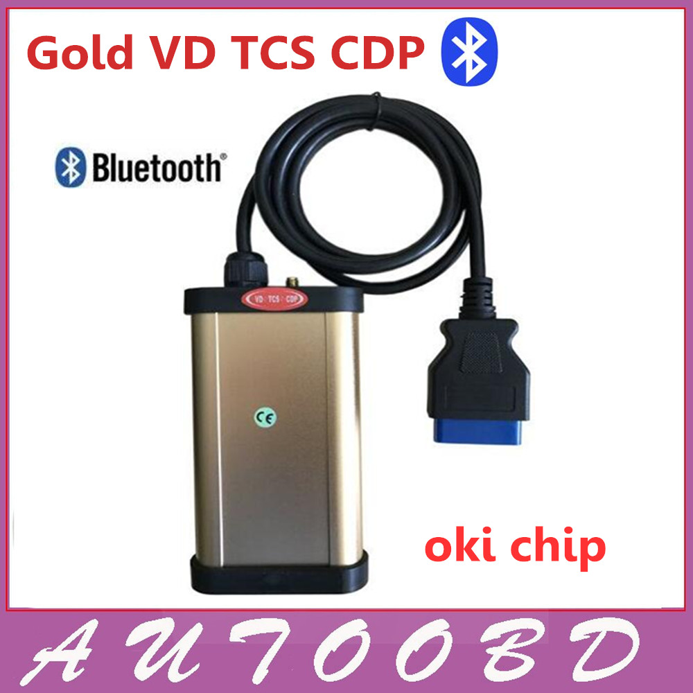 DHL Free shipping 2013.R3 software VD TCS CDP pro plus for cars& truck 2in1 with oki chip and bluetooth+ Multi-language In stock 5 psc lot diagnostic tool connect cable adapter for tcs cdp plus pro obd2 obdii truck full 8 trucks cables for cdp by dhl free