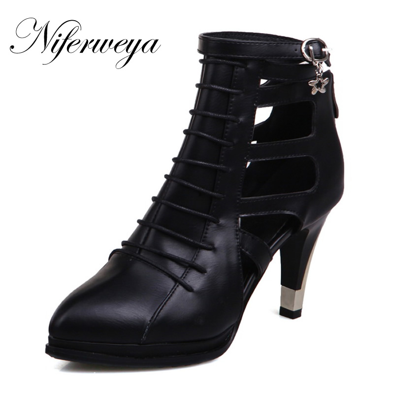 Fashion new Spring/Autumn women pumps Sexy Pointed Toe Gladiator shoes big size 28-52 zipper platform high heels zapatos mujer 2018 new plus big size 33 44 black red peep toe fashion sexy high heel platform spring autumn lady shoes women pumps d1103