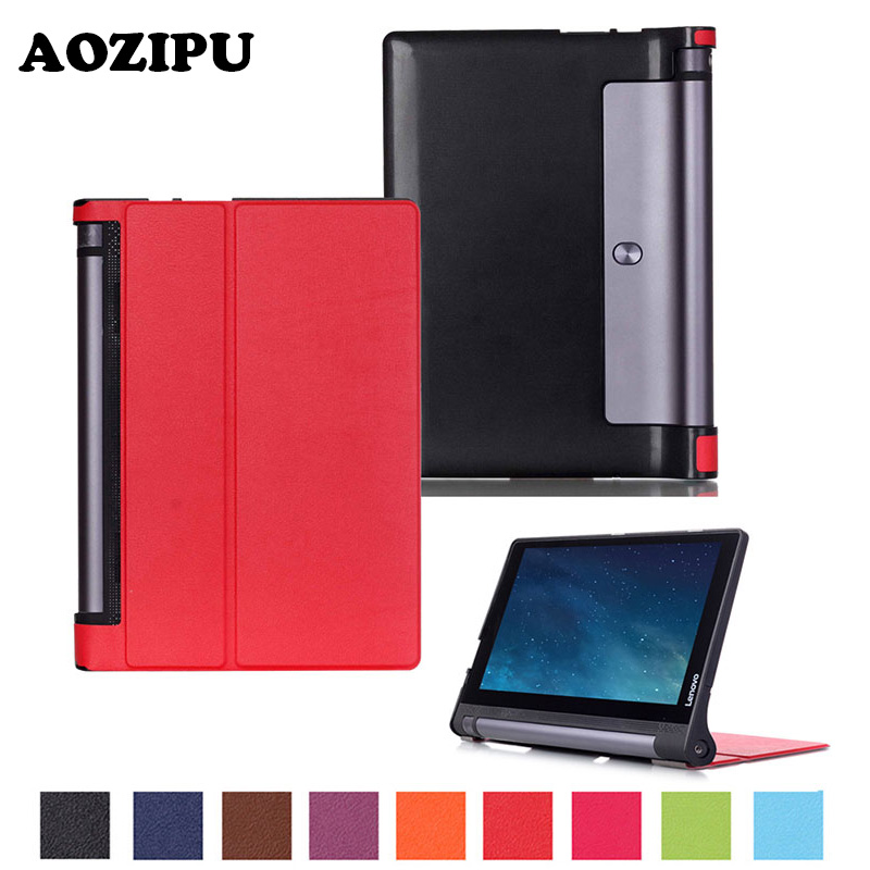 Tri fold Flip PU Leather Case Stand Protective font b Cover b font for Lenovo Yoga