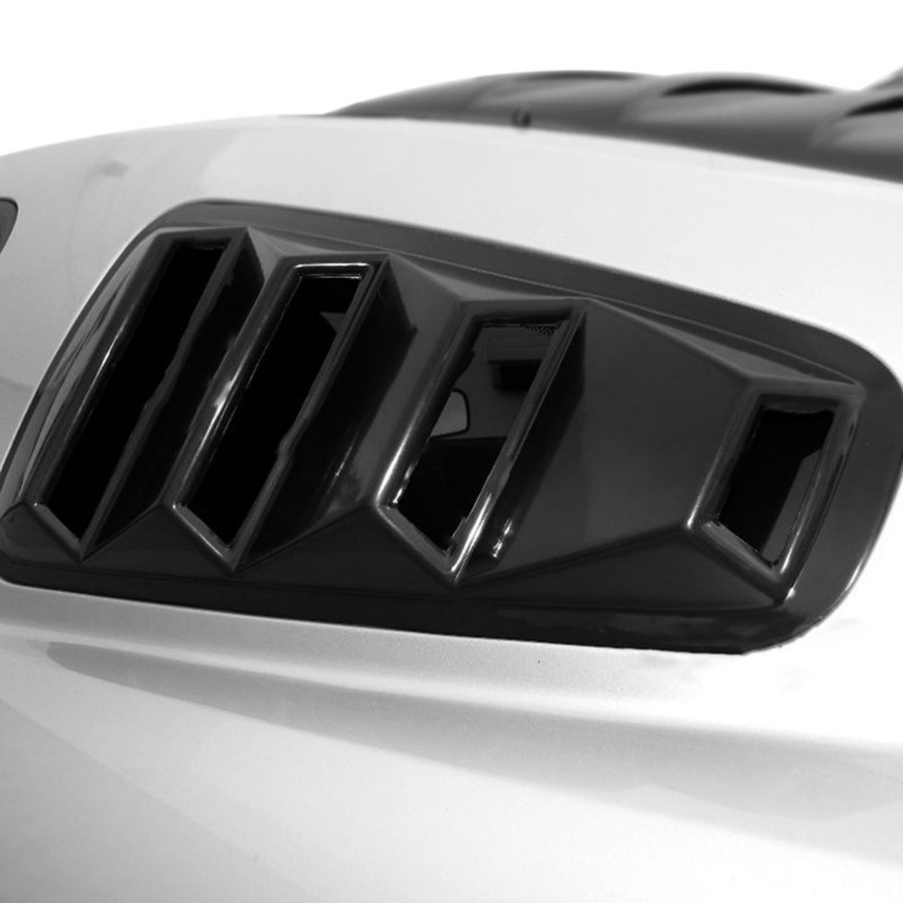 1/4 Quarter Side Window Modification Louvers ABS Scoop Cover Vent Decoration 2005 2014 For Ford Mustang Coupe Models Car styling