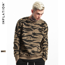 INFLATION 2017 Herbst & Winter Streetswear Hip Hop CAMO Mens Hoodies Orignal Design Camouflage Pullover 157W17