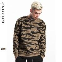 INFLATION 2017 Autumn Winter Streetswear Hip Hop CAMO Mens Hoodies Orignal Design Camouflage Pullover Sweatshirt 157W17
