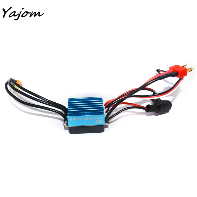 Free for shipping Sensorless 35A Brushless ESC Electric Speed Controller for RC Car Racing Set FT Brand New High Quality May 2