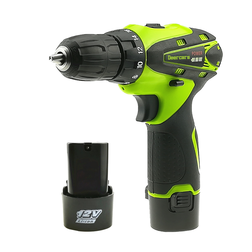 12v Cordless Screwdriver Rechargeable Drill Mini Battery Electric Drill Two Lithium Battery Parafusadeira Furadeira Tools Carton